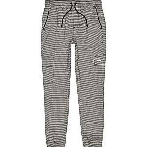 Pantalon de jogging utilitaire pied-de-poule gris Mini garçon