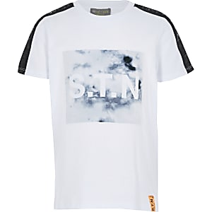 RI Active - Wit marmeren patroon T-shirt voor jongens