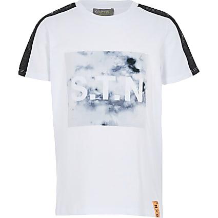 Boys Ri Active white marble T-shirt