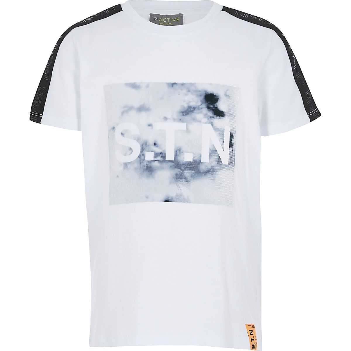 Boys Ri Active white marble T-shirt