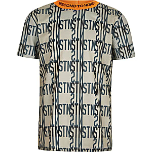 Boys RI Active beige printed T-shirt