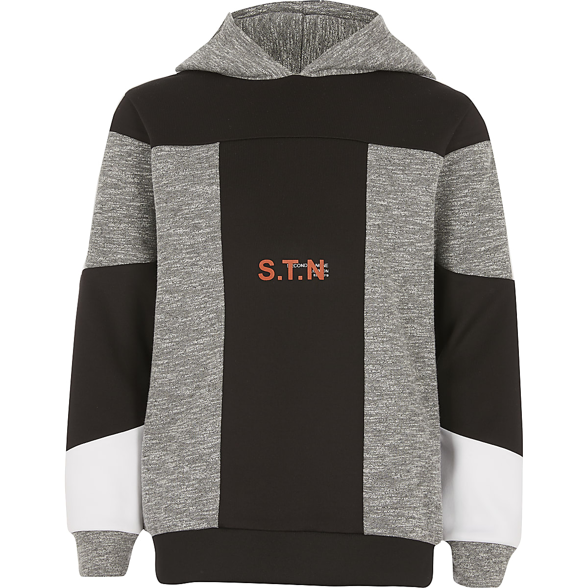 Boys RI Active grey blocked hoodie