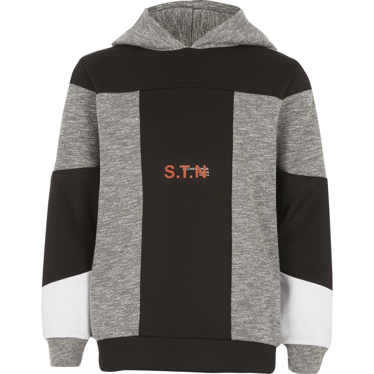 Boys RI Active grey blocked hoodie