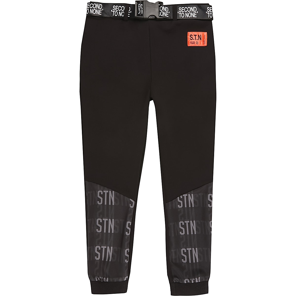 Boys RI Active black 'STN' belted jogger