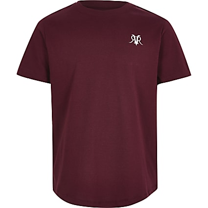 Boys burgundy RI T-shirt