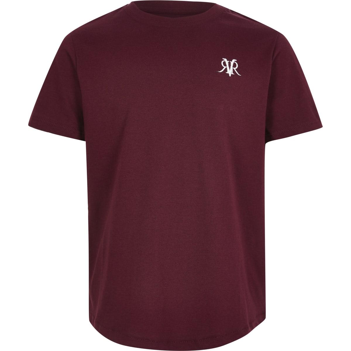 Boys burgundy RI T-shirt