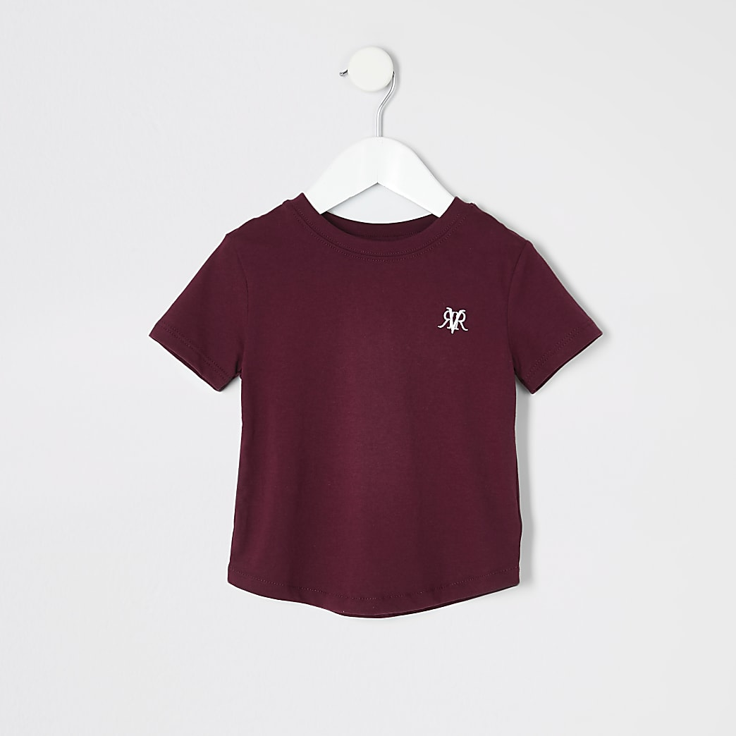 Mini boys burgundy RI T-shirt