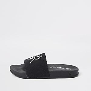 RVR - Zwarte slippers voor jongens