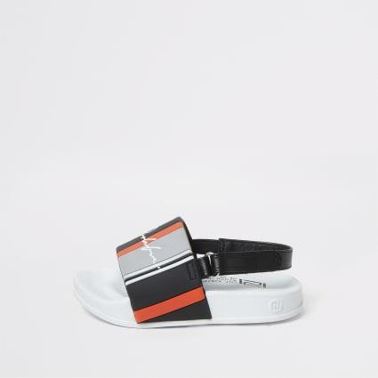 Mini boys white stripe Prolific slider