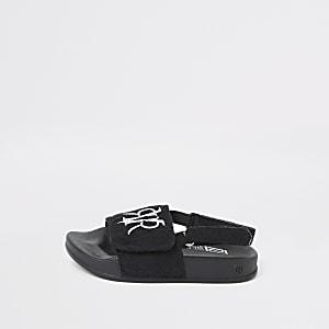 Mini - RVR Zwarte slippers voor jongens