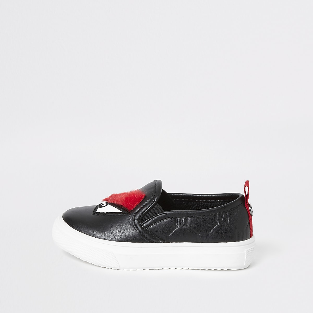Mini boys black monster plimsolls