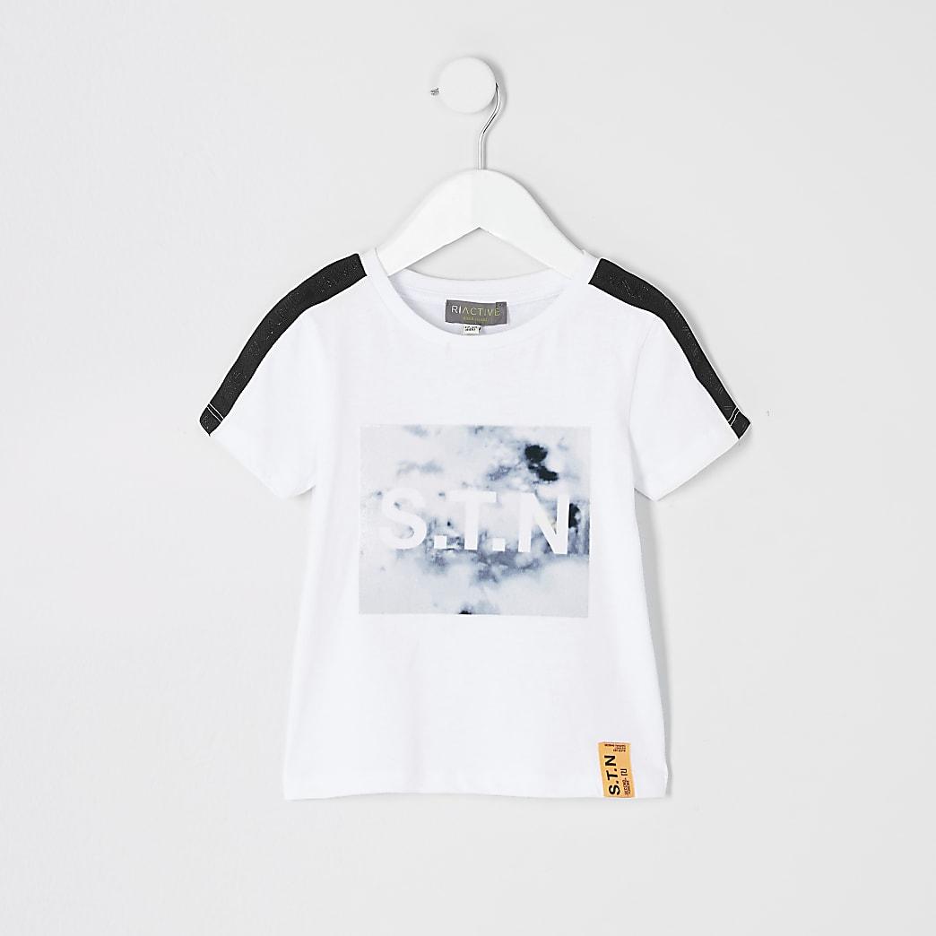 Mini boys Ri Active white marble T-shirt