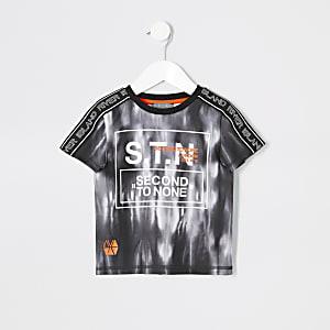 Mini - RI Active - Zwart tie-dye T-shirt voor jongens