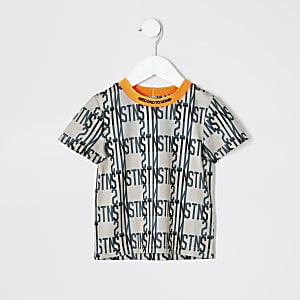 RI Active - Beige T-shirt voor mini-jongens