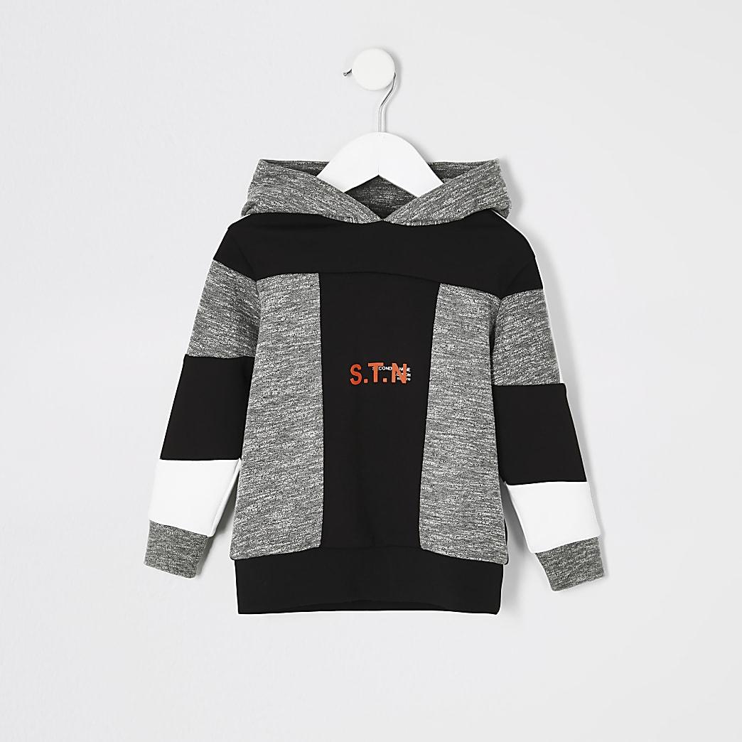 Mini boys RI Active grey 'STN' grindle hoodie
