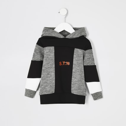 Mini boys RI Active grey 'STN' grindle hoodie