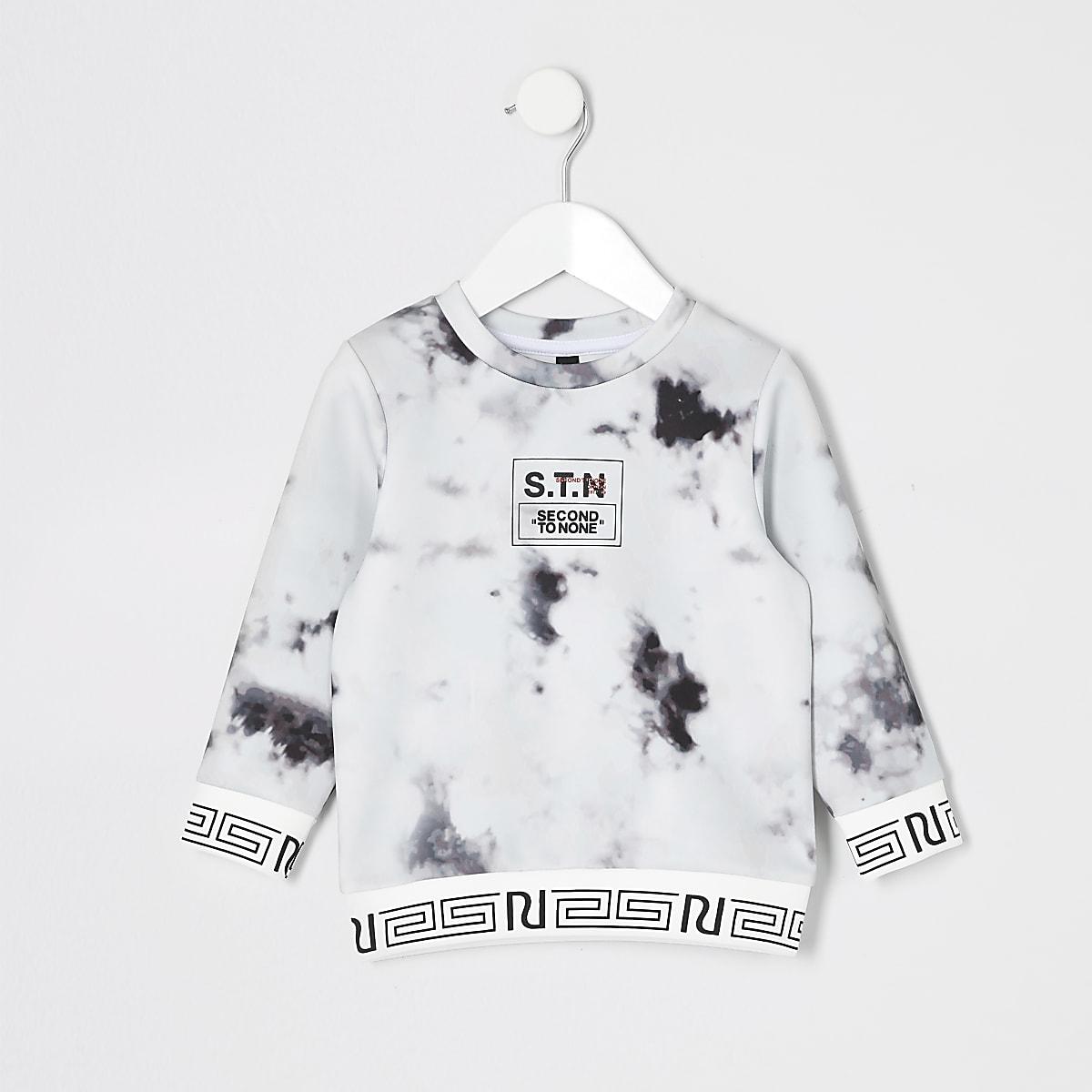 Mini - RI Active - Sweatshirt met marmerpatroon en STN-print voor jongens