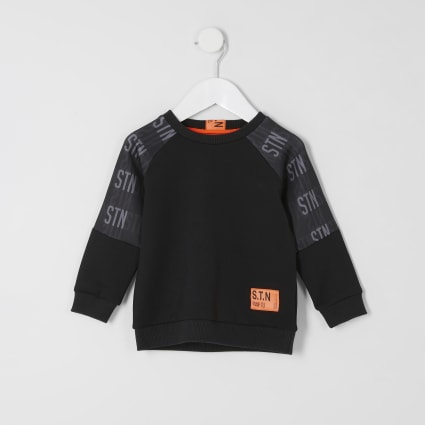 Mini boys RI Active black STN sweatshirt