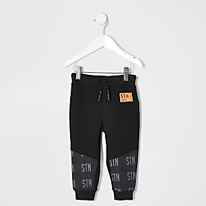 Mini boys black RI Active utility joggers