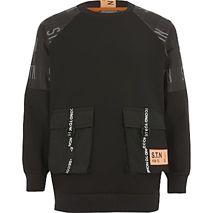 Boys RI Active black utility sweatshirt