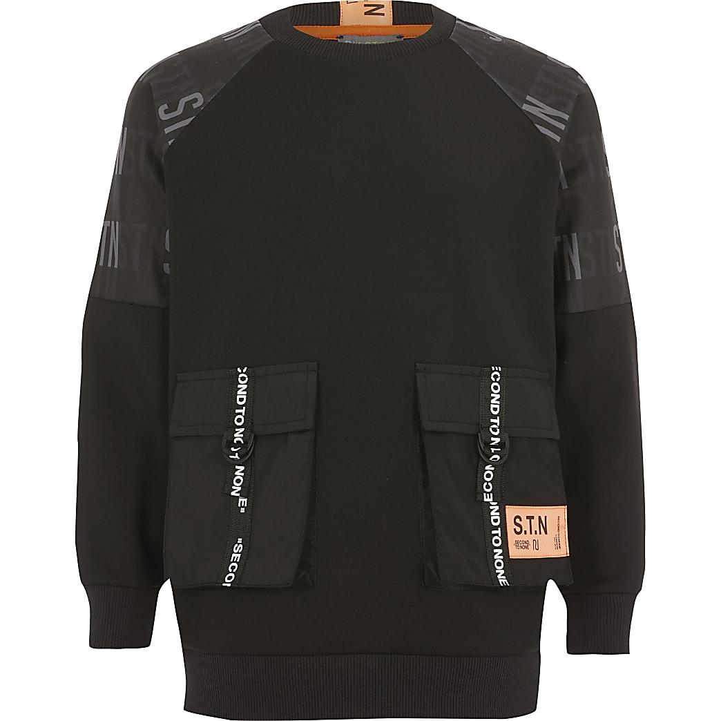 RI – Utility-Sweatshirt für Jungen in Schwarz