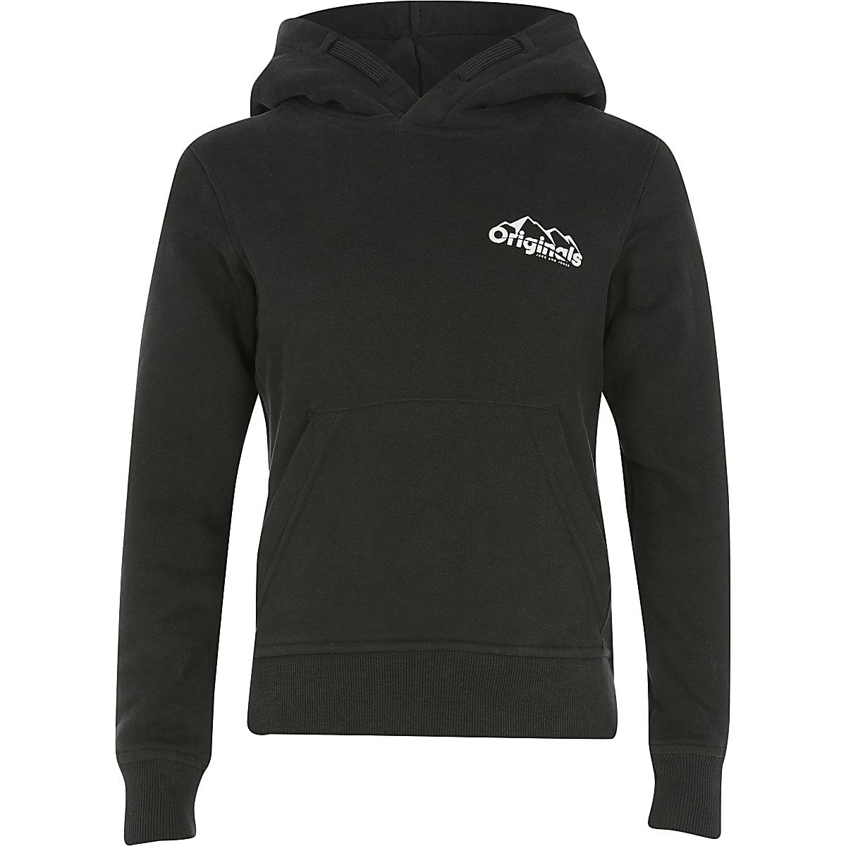 Boys Jack and Jones black hoodie