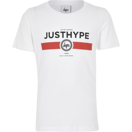 Boys Hype white 'Just Hype' T-shirt