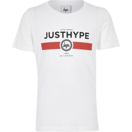 Boys Hype white 'Just Hype' T-shirt