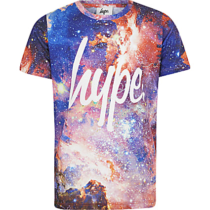 Boys red Hype space print T-shirt