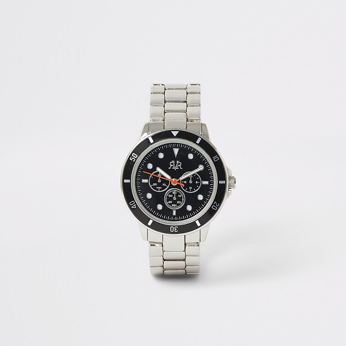 Boys silver colour link strap watch