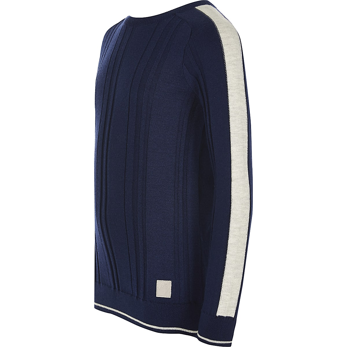 Boys blue Maison Riviera ribbed knit jumper