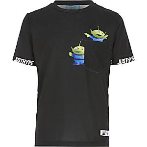 Hype - Zwart T-shirt met zak voor jongens