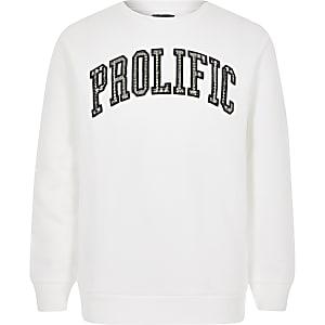"""Weißes Sweatshirt""""Prolific"""" für Jungen"""