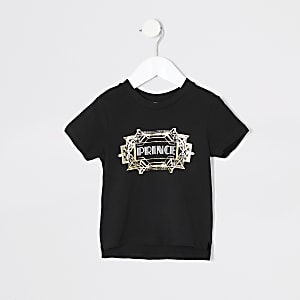 T-shirt jumeaux «Prince» noir mini garçon