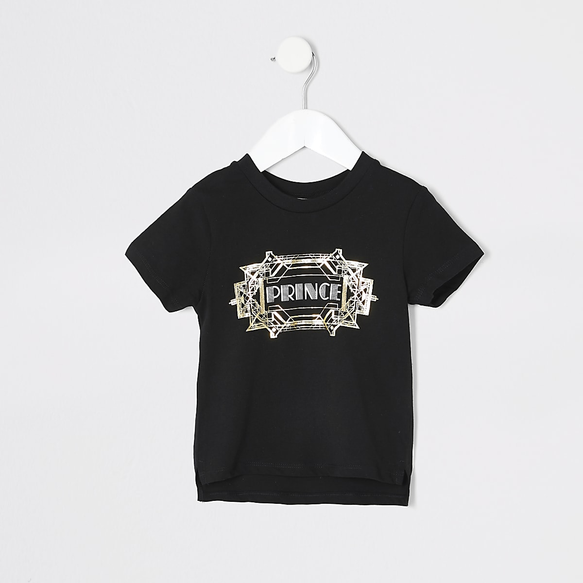 Mini boys black 'Prince' twinning T-shirt