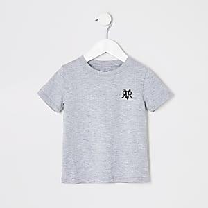 Mini - Grijs T-shirt met RI-print voor jongens