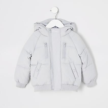 Mini boys grey Prolific padded puffer jacket