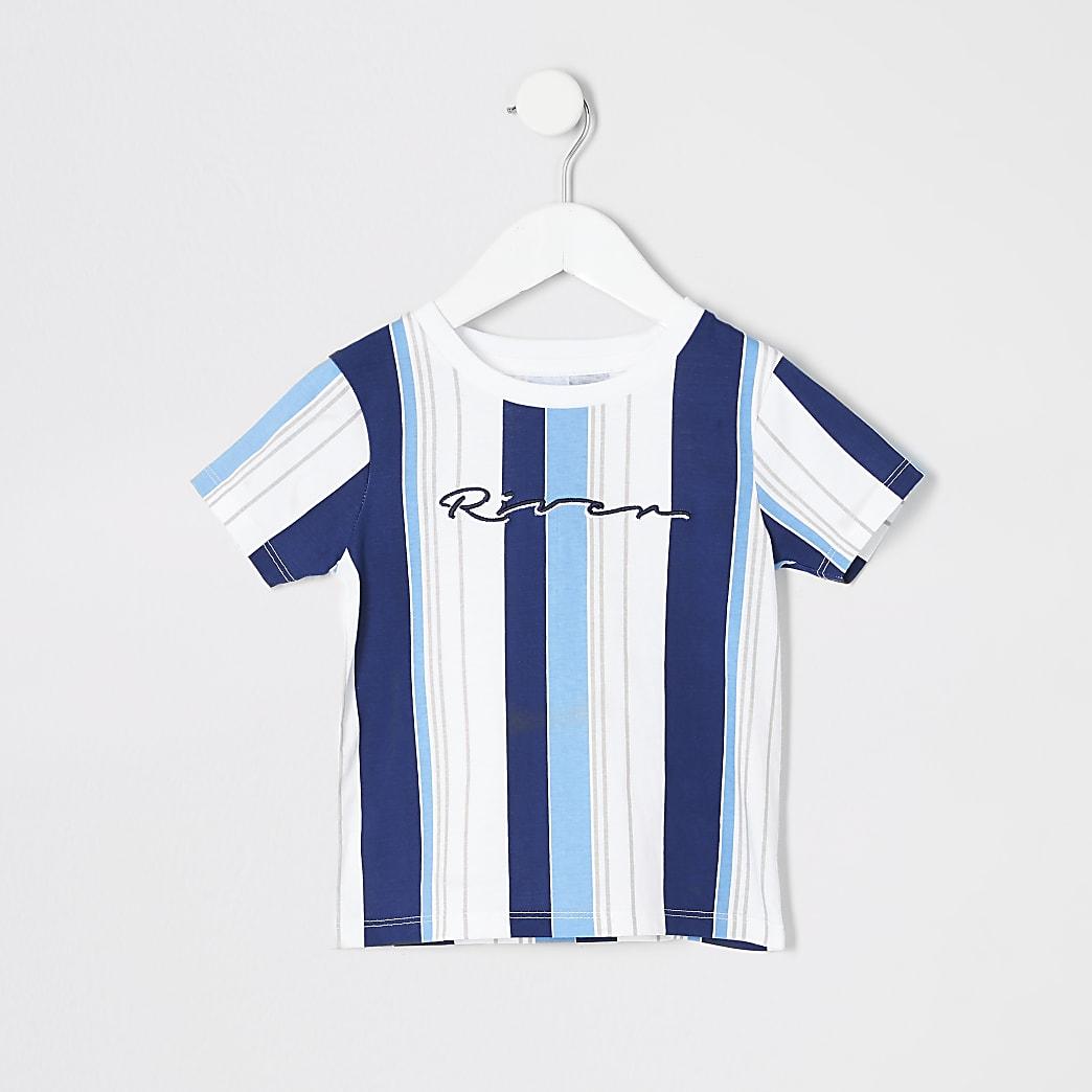 Mini boys 'River' stripe T-shirt