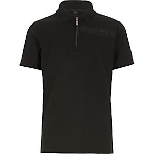 Schwarzes Poloshirt Maison Riviera für Jungen