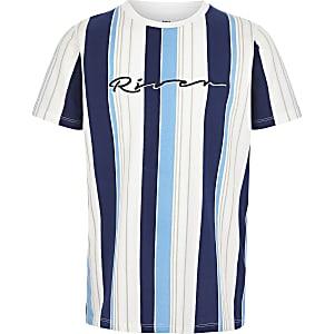 Blauw T-shirt met 'River'-print voor jongens