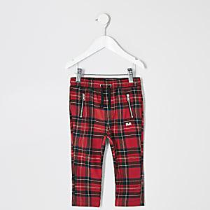 Pantalons à carreaux écossais rouges Mini garçon