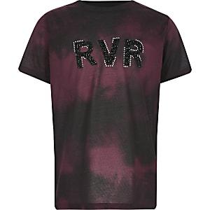 Rood tie-dye RVR T-shirt voor jongens