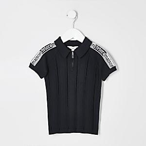 """Mini – Marineblaues Poloshirt """"Maison Riviera"""" für Jungen"""