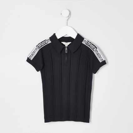 Mini boys navy Maison Riviera polo top
