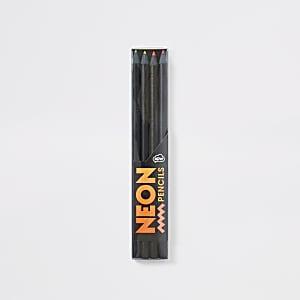 Boys black neon pencils