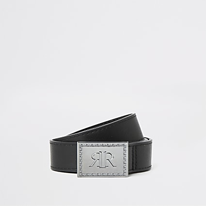 Boys black RI chunky buckle belt