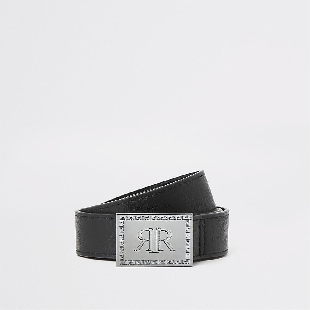 Boys black RI chunky buckle belt