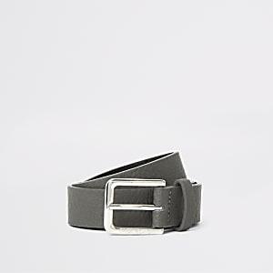 Boys grey buckle belt