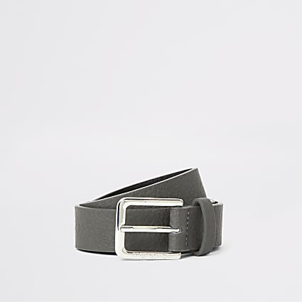 Boys grey buckle belt