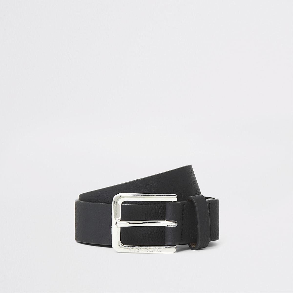 Boys black buckle belt